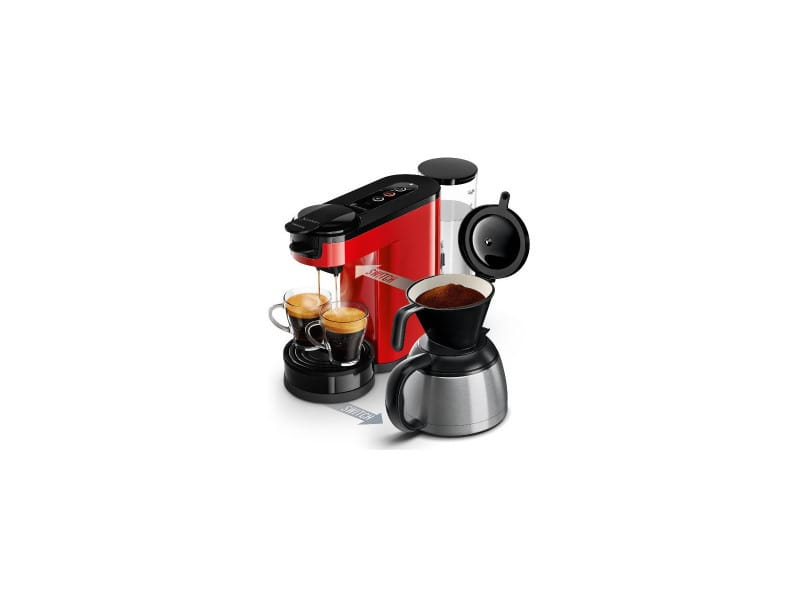 Senseo switch 1ou2 tasses et filtre verseuse isotherme 1l booster arome philips - hd6592.81