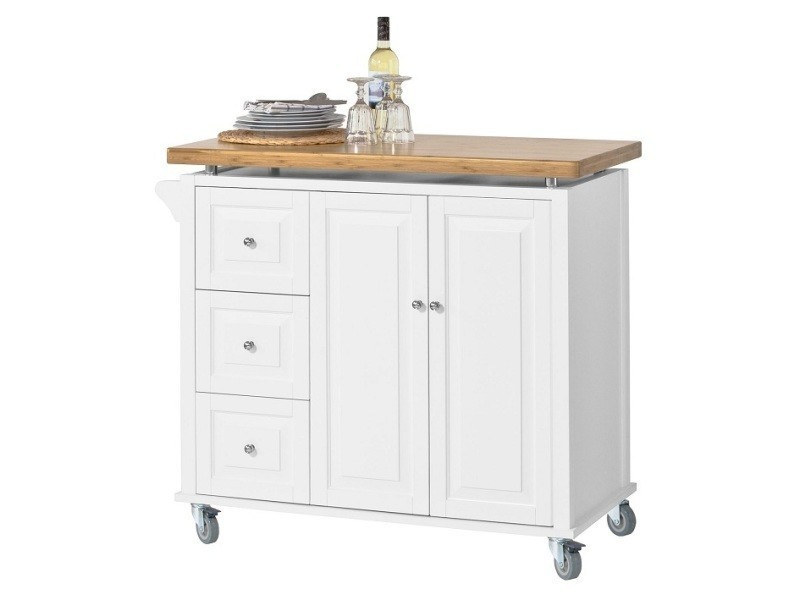 Desserte sur roulettes meuble chariot de cuisine de - Desserte de cuisine avec tiroir ...