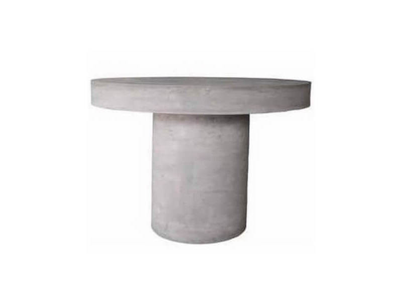 Beton - table repas ronde grise