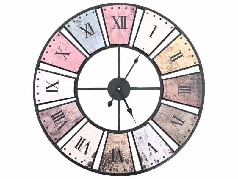 Horloge murale vintage avec mouvement à quartz 60 cm xxl dec022278
