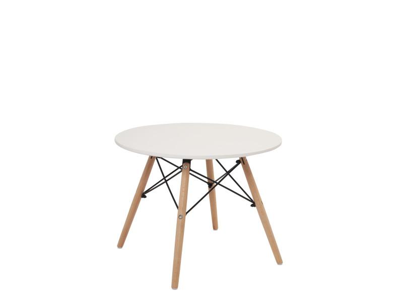 Table basse ronde scandinave BUL (blanc) BUL