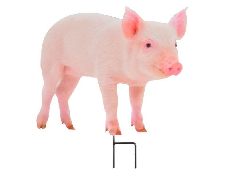 Statue de jardin animal de la ferme décoratif sur pic cochon