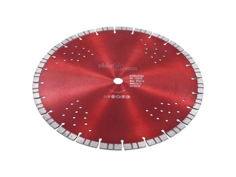 Icaverne - lames de scie collection disque de coupe diamanté avec turbo et trous acier 350 mm
