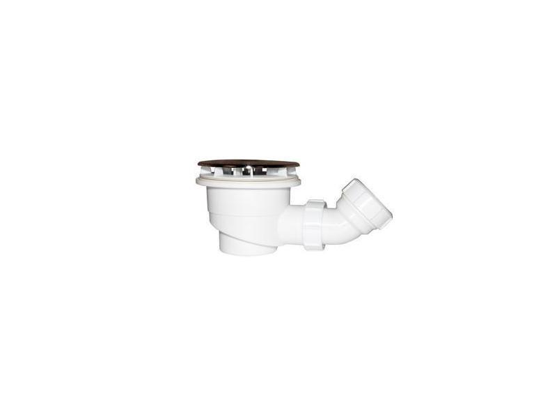 Aica bonde de receveur bonde de douche 90 mm avec le siphon 90cm bonde de douche haut débit extra plate couverture chromé diamètre 90mm