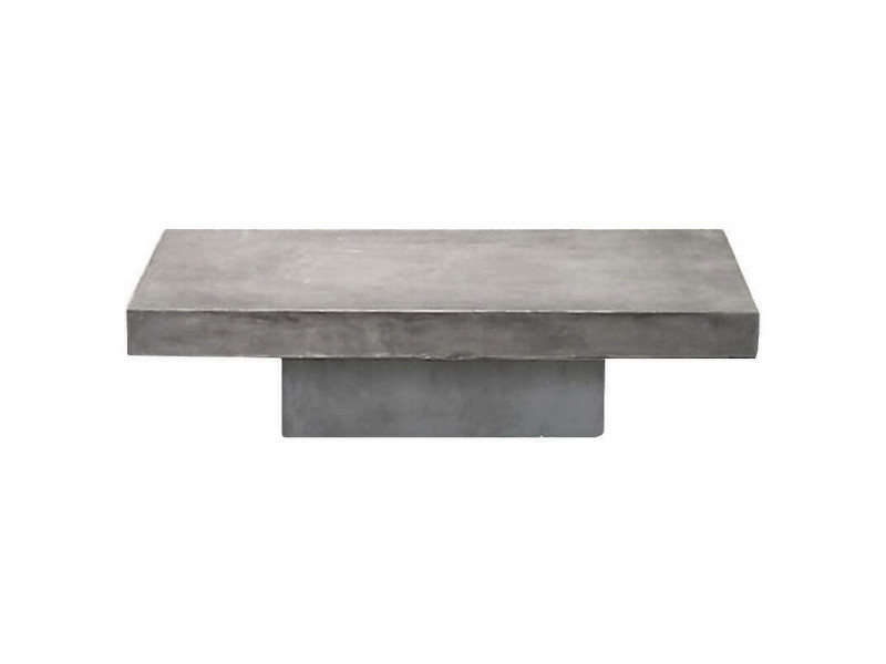 Beton - table basse béton massif gris