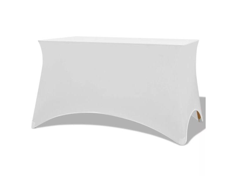 Stylé décorations selection kingston housses extensibles pour table 2 pièces 183 x 76 x 74 cm blanc