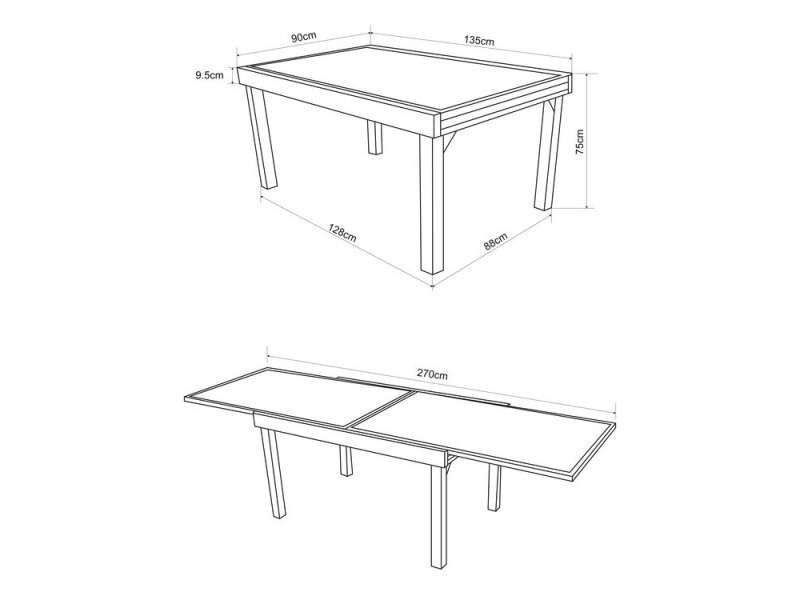 De Table Alu En Verre Et Modena Vente Extensible Salon Jardin vwN0Oy8nm