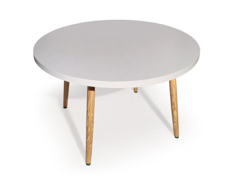 Table Ronde Scandinave Nora Blanc Vente De Table Conforama