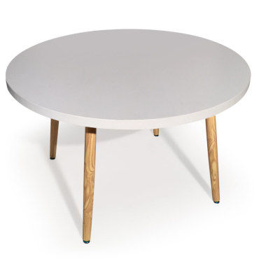 table ronde scandinave nora blanc vente de table conforama. Black Bedroom Furniture Sets. Home Design Ideas