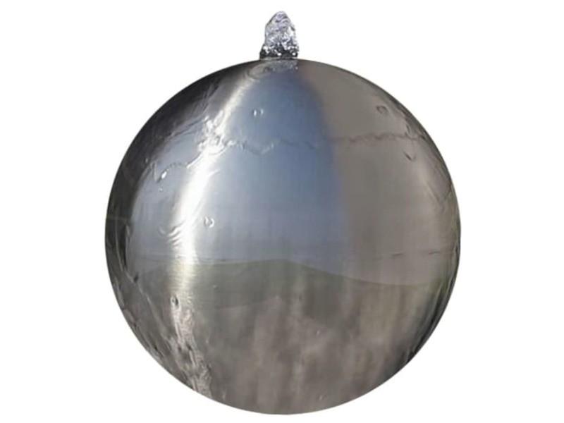 Vidaxl sphère de fontaine de jardin avec led acier inoxydable 20 cm 41677