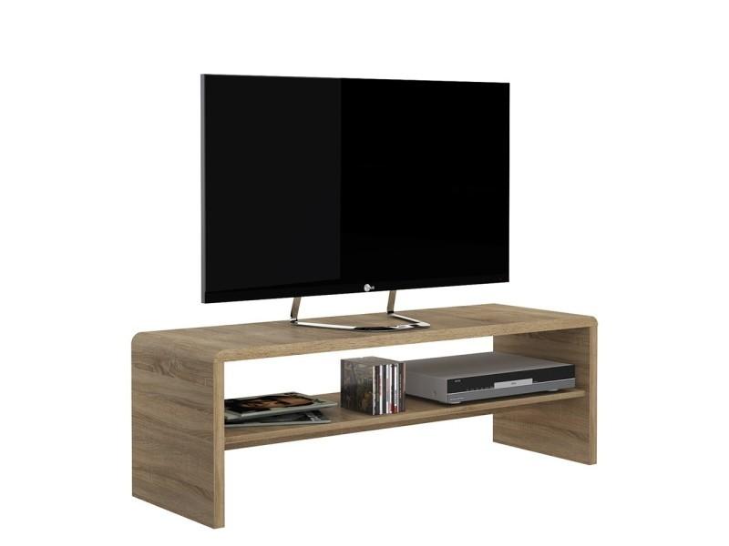 Table basse ou meuble de télévision décor chêne sonoma tess