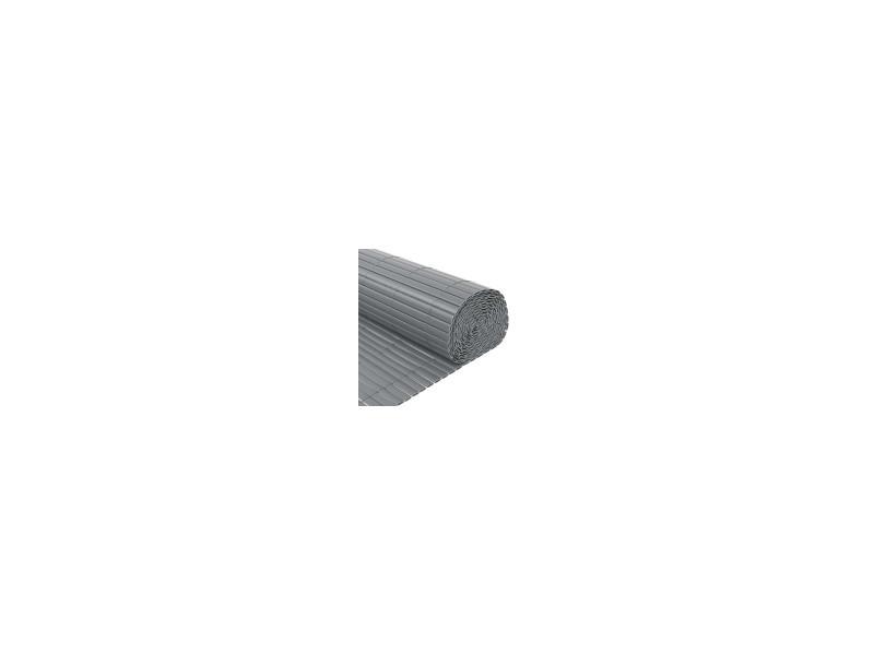 Canisse pvc double face 1600 g m gris 1 x 3 m tres for Panneau brise vue pvc reims