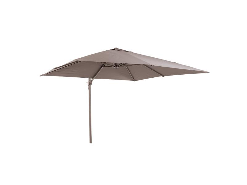 Parasol déporté taupe en aluminium 300x300 cm opio - Vente de GECKO ...