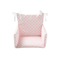 Coussin de chaise haute triangle rose