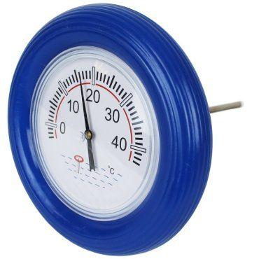 Thermomètre bouée bleu pour piscine avec cordon Vente de