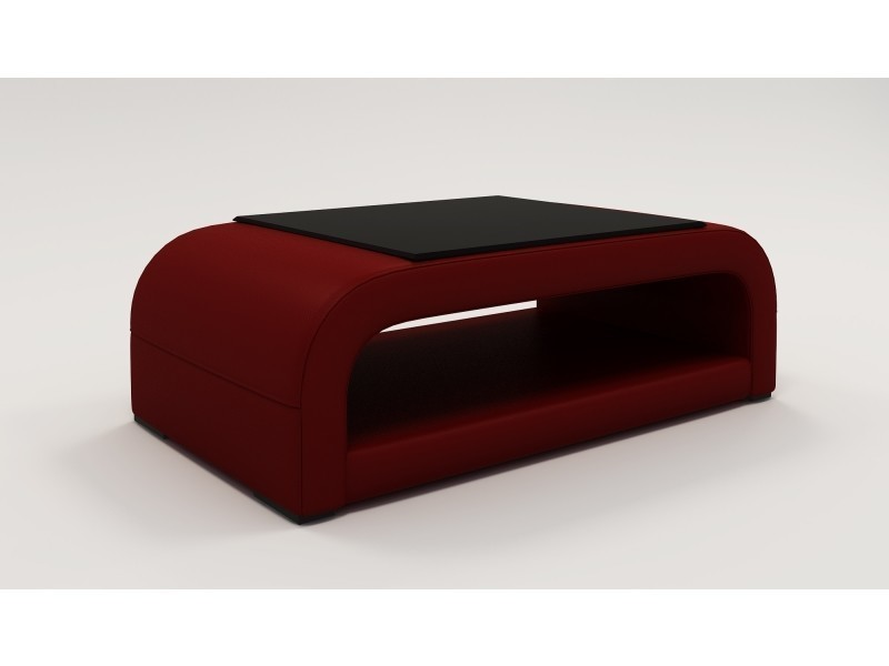 Table basse design rouge nelly-