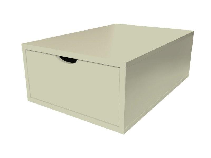 Cube de rangement bois 75x50 cm + tiroir moka CUBE75T-Moka