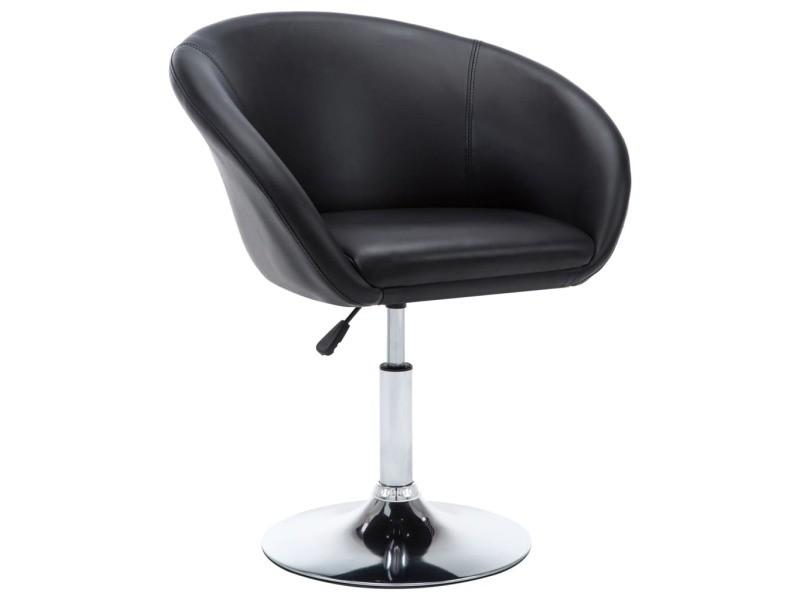 chaise pivotante simili noir salle a manger