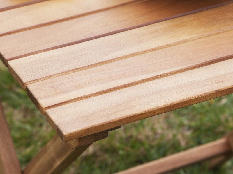 Table basse de jardin en acacia couleur teck cenari - Vente ...