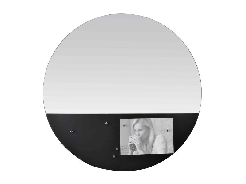 Miroir rond memo board magnétique