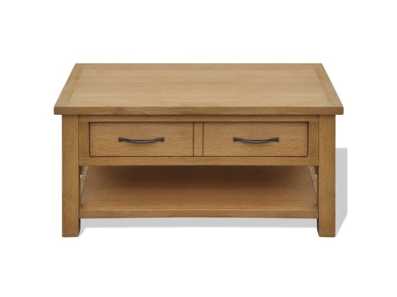 Vidaxl table basse 88x53x45 cm bois de chêne massif 242745