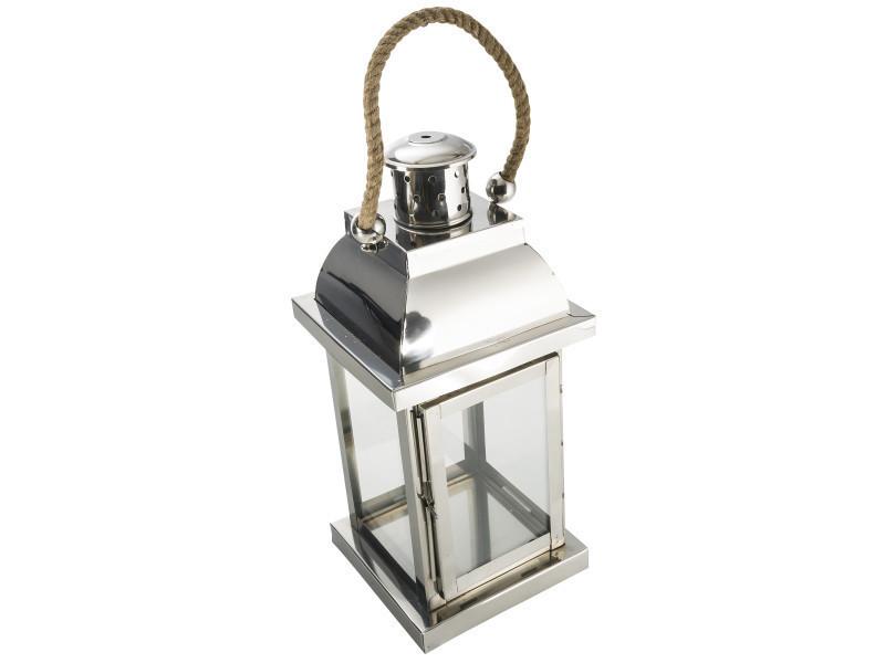 Mobilier de jardin et aménagement extérieur lanterne à poser ou à suspendre. Cordelette de suspensio