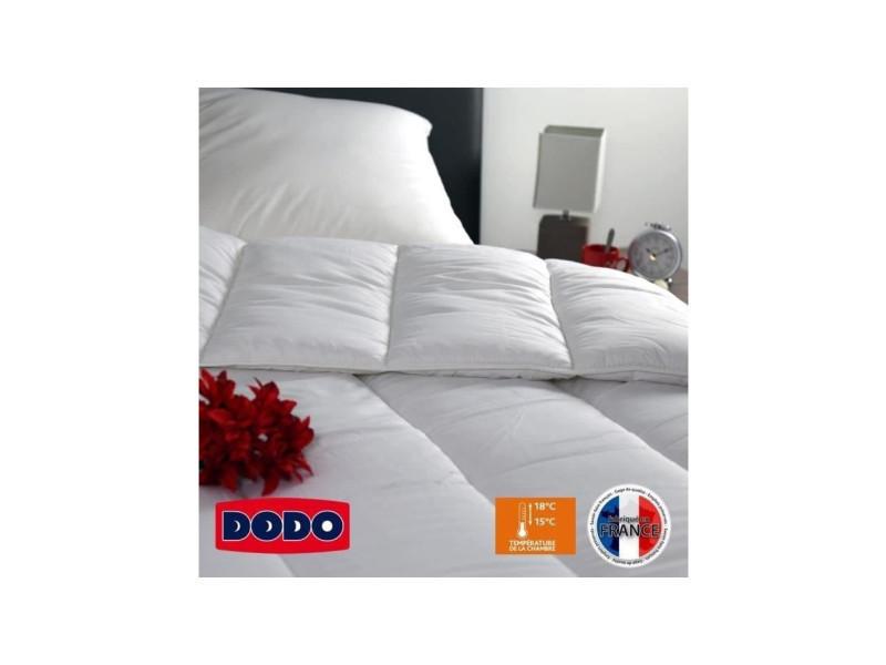 Dodo couette chaude 400 gr/m² vancouver 220x240 cm blanc   Vente