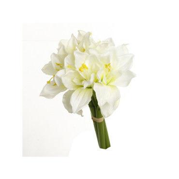 bouquet 6 amaryllis artificiels h 31 cm blanc conforama. Black Bedroom Furniture Sets. Home Design Ideas
