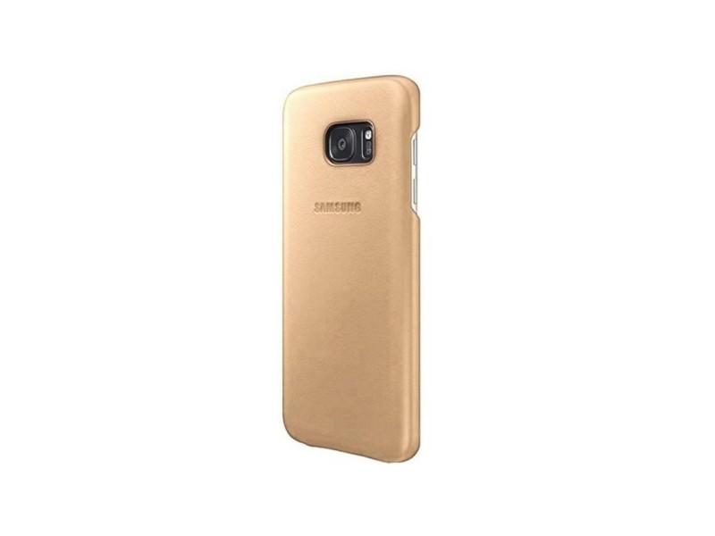 Samsung coque cuir pour galaxy s7 edge - beige