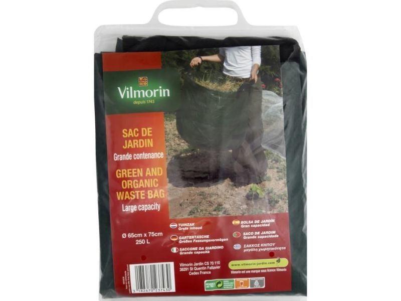 Sac a dechets verts - sac a herbe - support sac sac de jardin grande contenance - 250 l