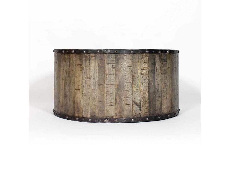 table basse industrielle effet rondin de bois if621 vente de table basse conforama. Black Bedroom Furniture Sets. Home Design Ideas