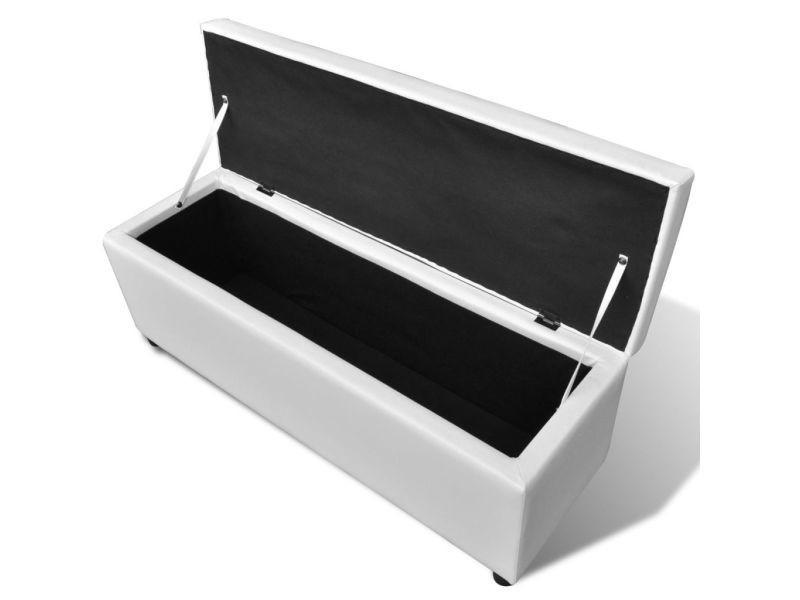 vidaxl banc long de rangement bois blanc 241062  vente de
