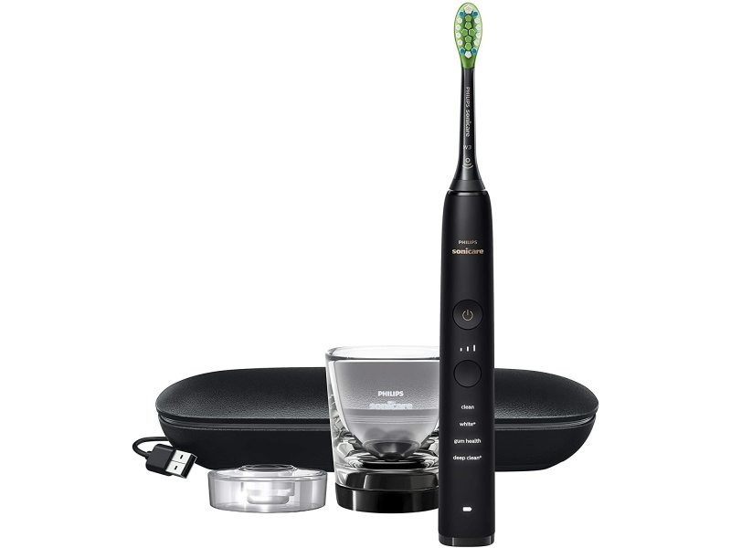 Brosse à dents électrique rechargeable connectée diamondclean noir