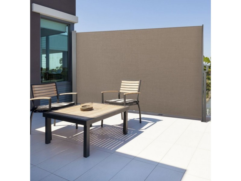 paravent rtractable x cm store taupe latral enroulable vente de id market conforama with table. Black Bedroom Furniture Sets. Home Design Ideas