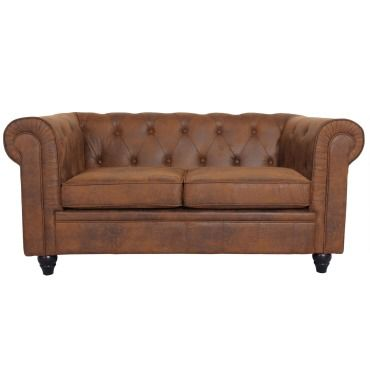 canap 2 places chesterfield vintage vente de menzzo conforama. Black Bedroom Furniture Sets. Home Design Ideas