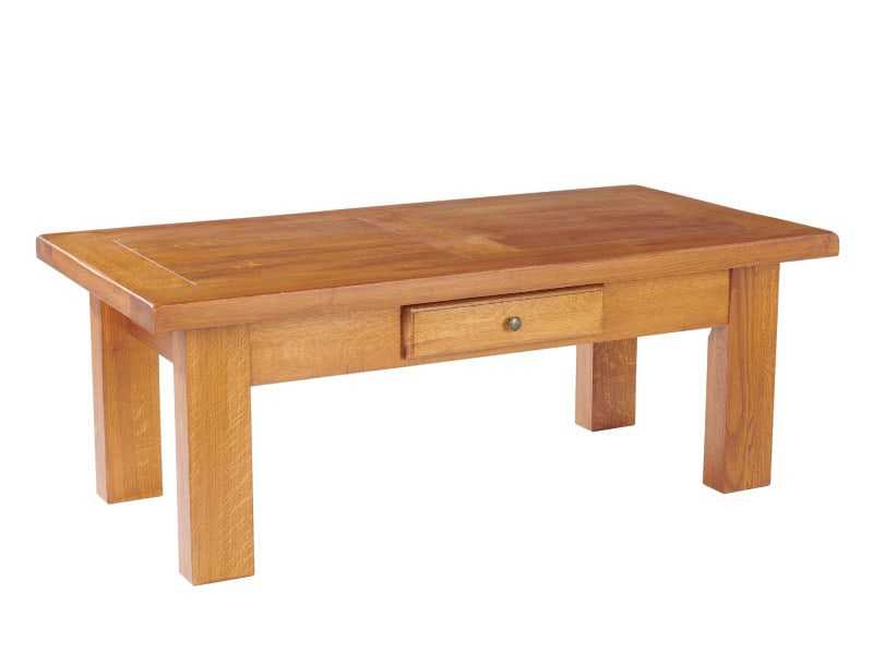 Table Salon Bois Massif - Table basse rectangle la bresse bois ch u00eane massif Vente de HELLIN Conforama
