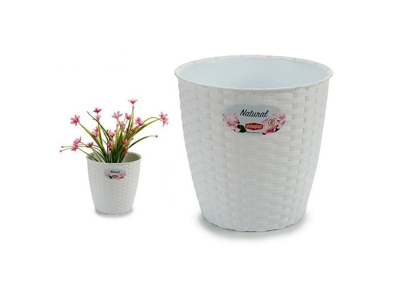 Jardinage distingué pot blanc