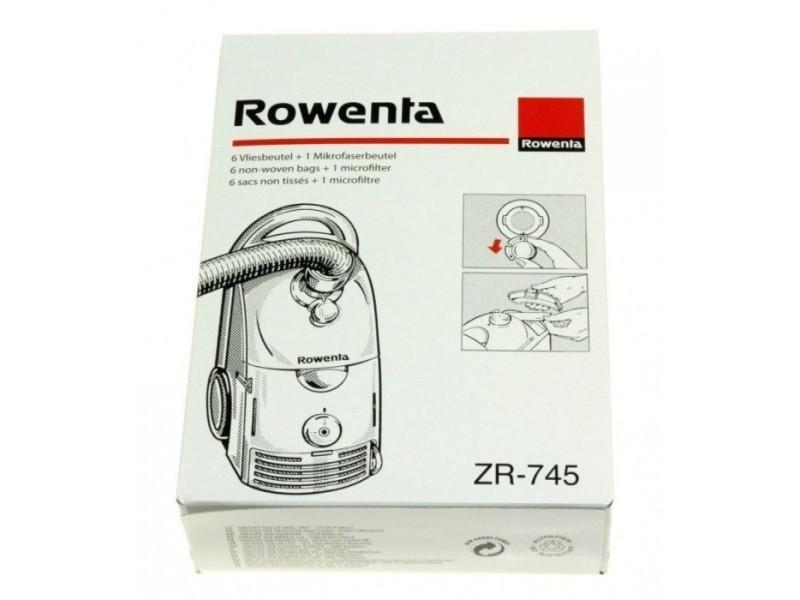 Sacs x6 + 1 microfiltre pour aspirateur dymbo rowenta