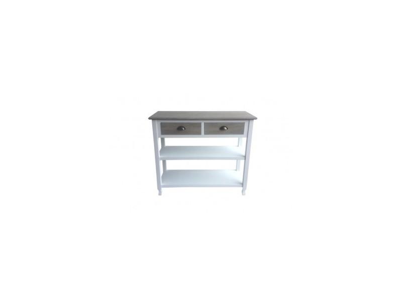 Console 2 tiroirs bois clair patiné evidence - Vente de VERSA - Conforama 29206a4db258