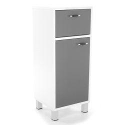 meuble bas de salle de bain high glossy gris - Miroir Salle De Bain Conforama