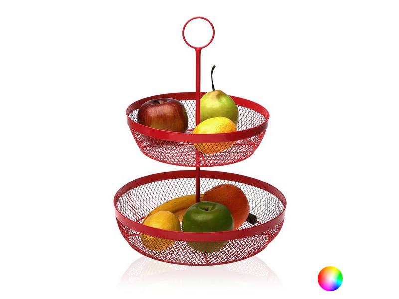 Autres accessoires et ustensiles de cuisine superbe couleur gris coupe à fruits métal (28,5 x 38 x 28,5 cm)