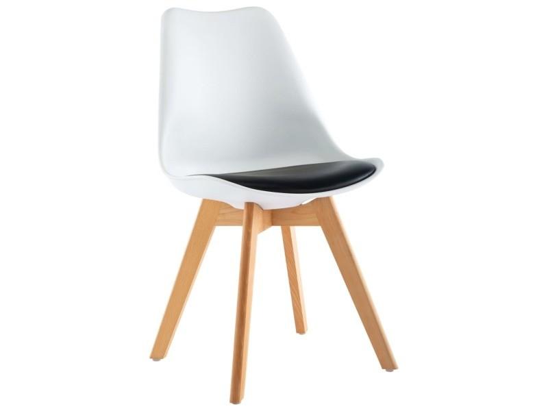 Vidaxl chaises de salle à manger 2 pcs blanc et noir