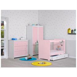 Chambre bébé complète rose quartz grain d'orge