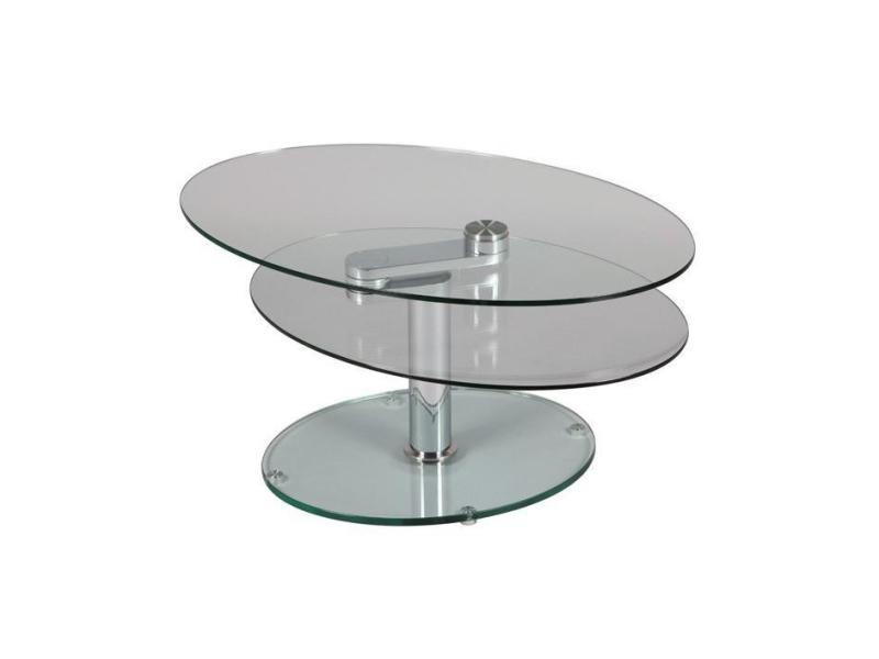 Table à plateaux pivotants splash en verre 20100835626