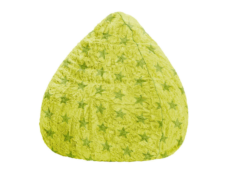 Pouf fluffy stars vert anis xl