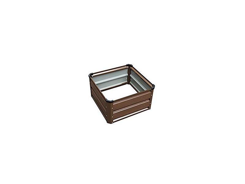 Carré potager gardiun grove cuber i métal 50x50x26 cm