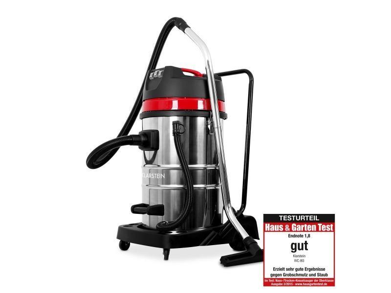 Klarstein ivc-80 aspirateur industriel eau et poussieres + accessoires - réservoir 80l - 22,31 kpa - 3000w -