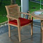 Lot de 2 fauteuils empilables en teck ecograde© samoa