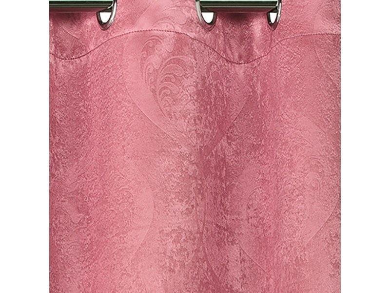 rideau occultant motif baroque rose dimensions 140x260cm vente de best interior conforama. Black Bedroom Furniture Sets. Home Design Ideas