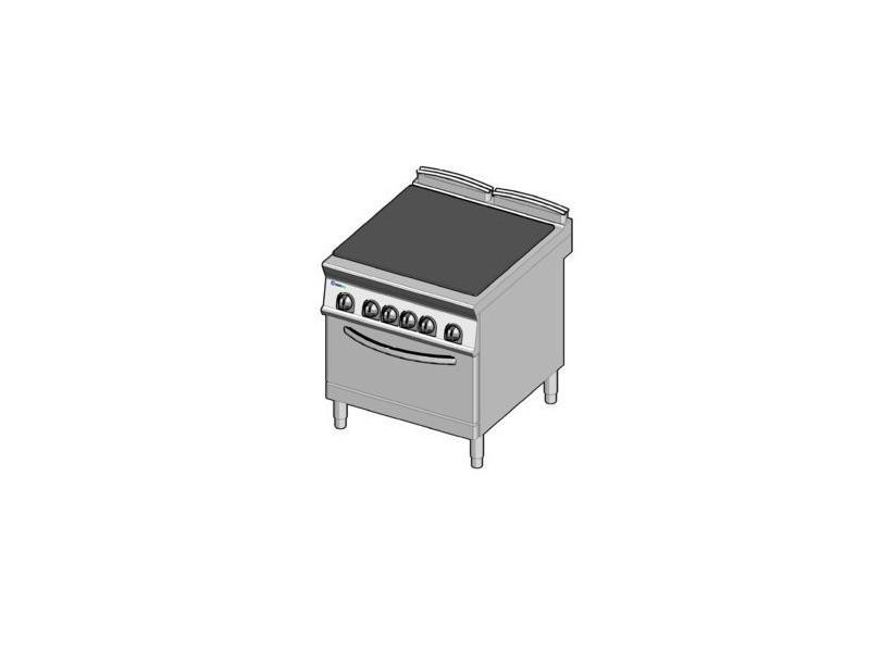 Plaque de mijotage sur four électrique statique gn 2/1 - tecnoinox -
